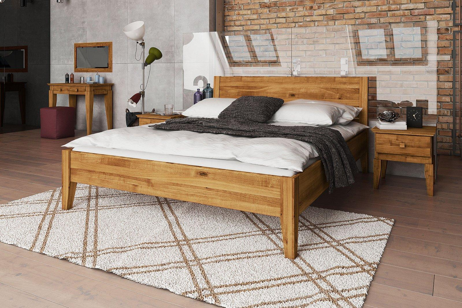 Łóżko ODYS z litego drewna