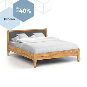 Łóżko ODYS z tapicerowanym szczytem