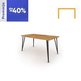 Stół z naturalnym blatem GOLO