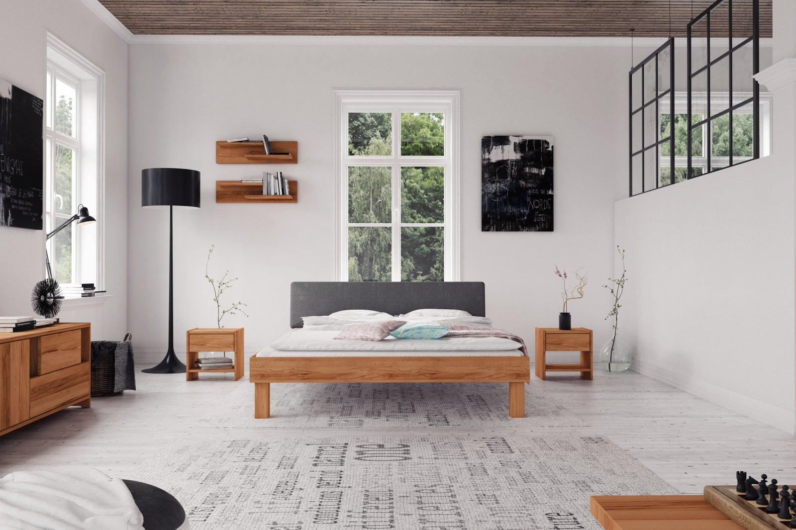 Łóżko VIGO 3 z tapicerowanym szczytem