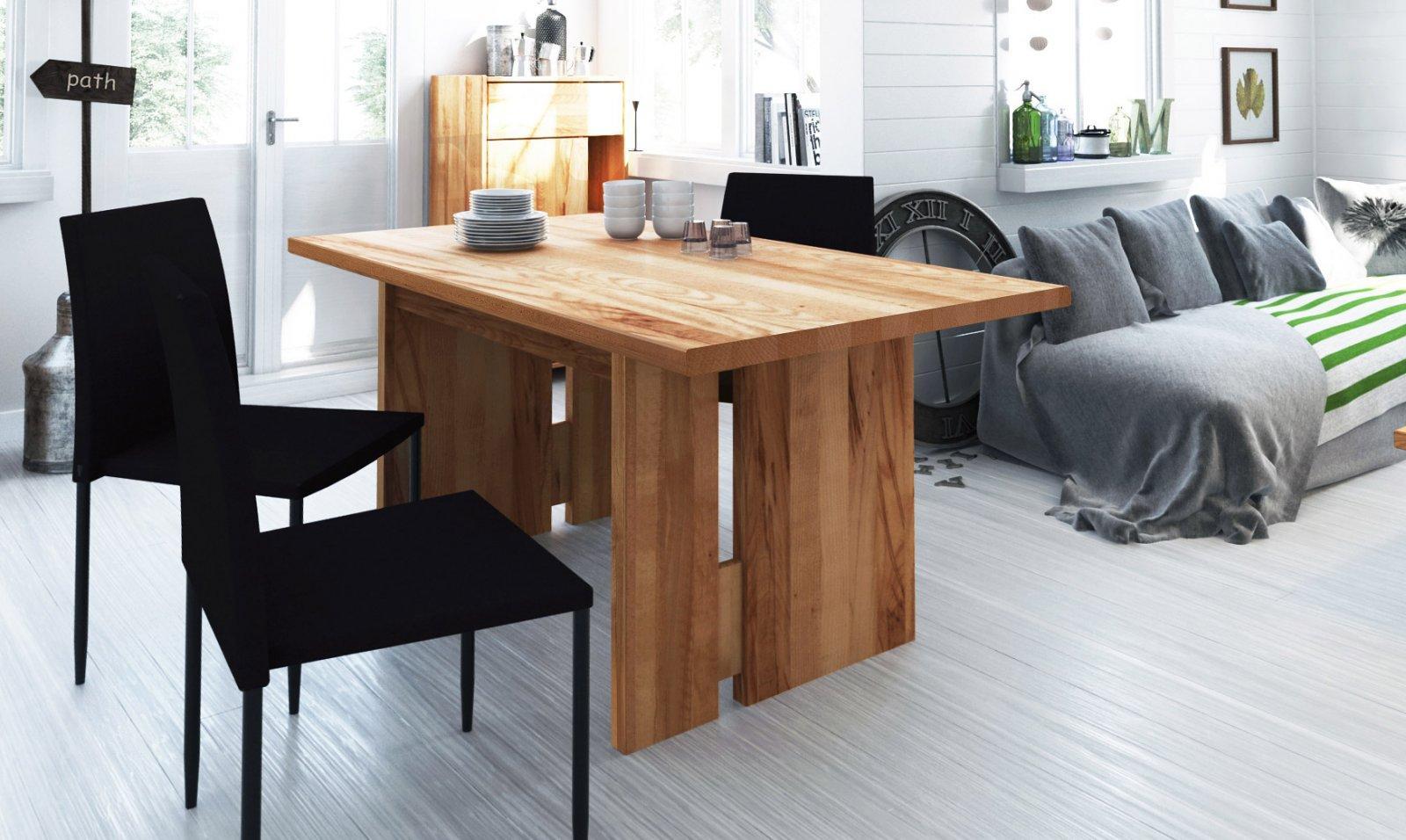 Stół VIGO nierozkładany z litego drewna