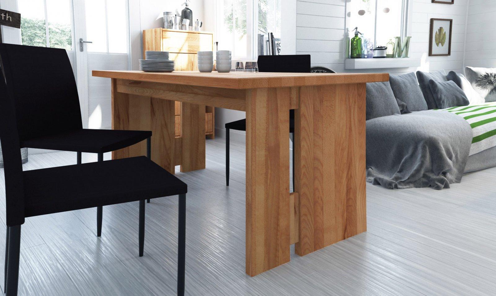 Stół VIGO rozkładany z litego drewna
