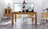Stół VENTO z dostawkami z litego drewna