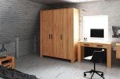 Szafa CUBIC 3-drzwiowa z litego drewna