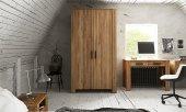 Szafa CUBIC 2-drzwiowa z litego drewna