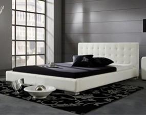 Łóżko ANTONIO z ekoskóry