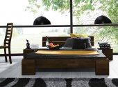 Łóżko SETI wysokie z litego drewna