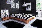 Rama łóżka VINCI niska z litego drewna