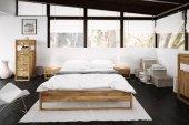 Rama łóżka MINIMAL z litego drewna