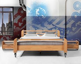 Łóżko HEAVY METAL na kołach