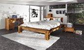 Łóżko JAMES wysokie z litego drewna