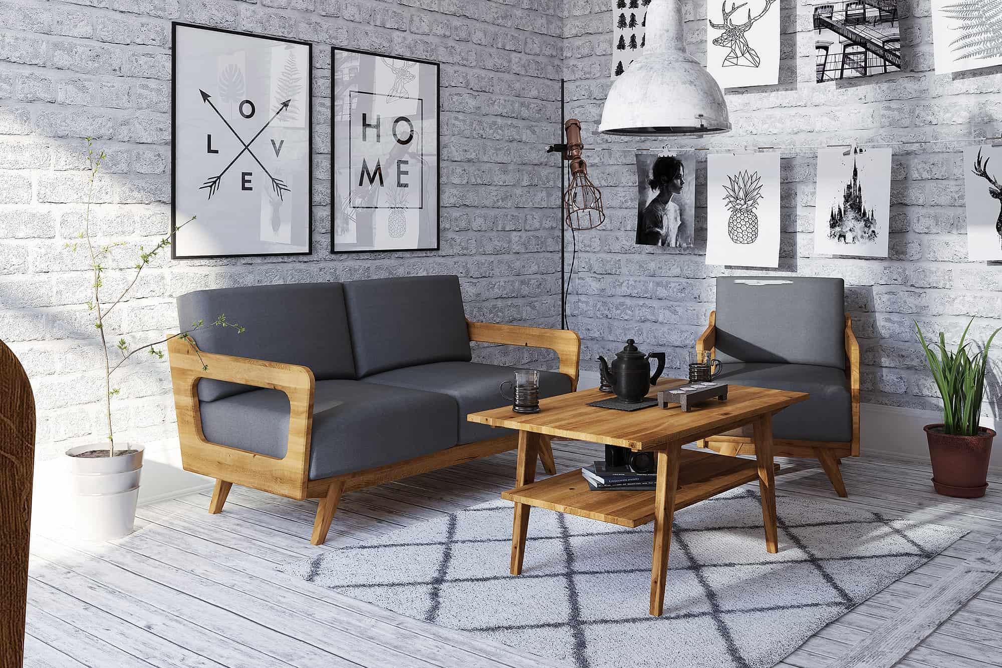 Zdjęcie 4 - RETRO - Kolekcja mebli do salonu z drewna litego