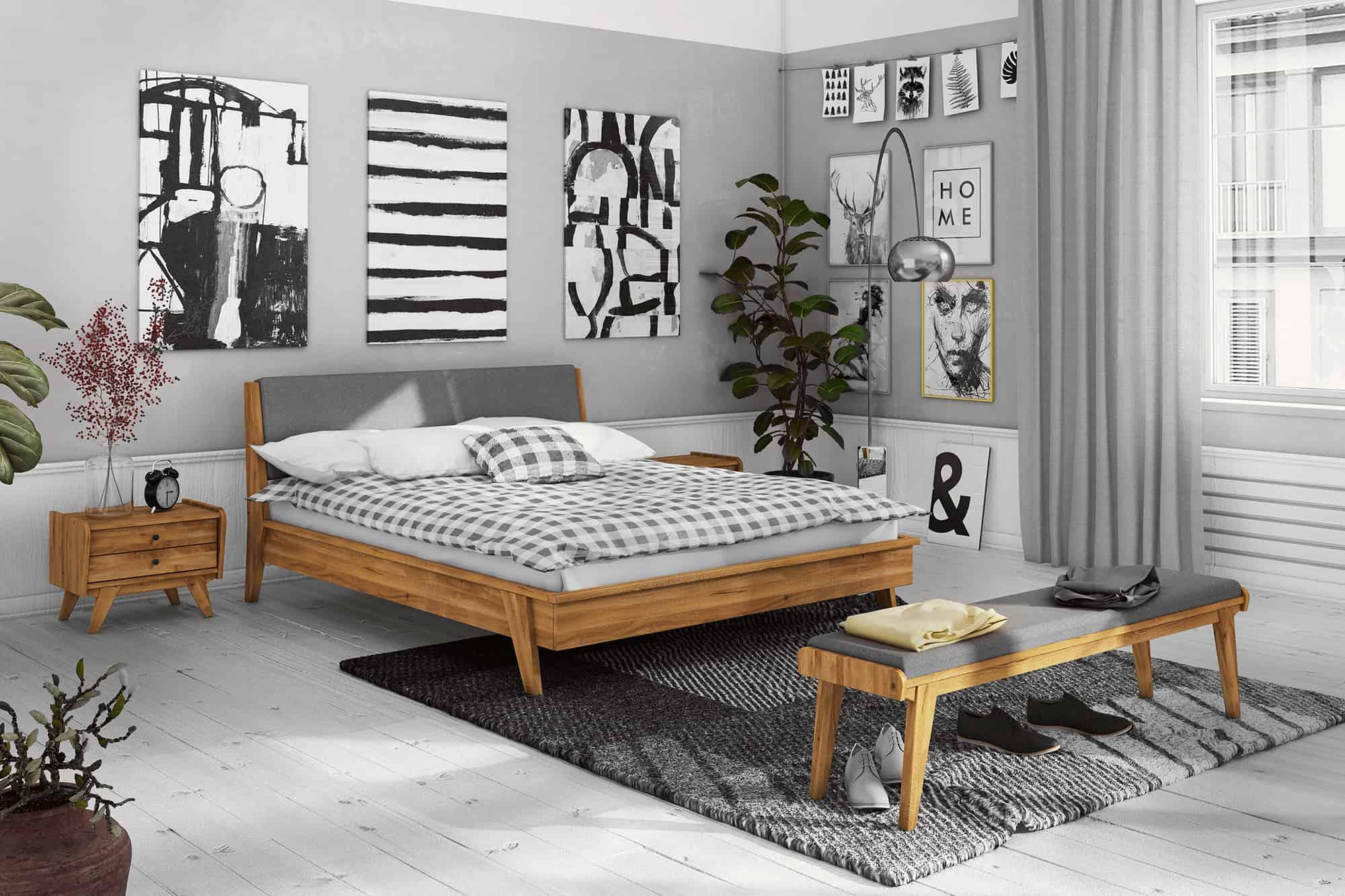 Zdjęcie 7 - RETRO - Kolekcja mebli do sypialni z drewna litego