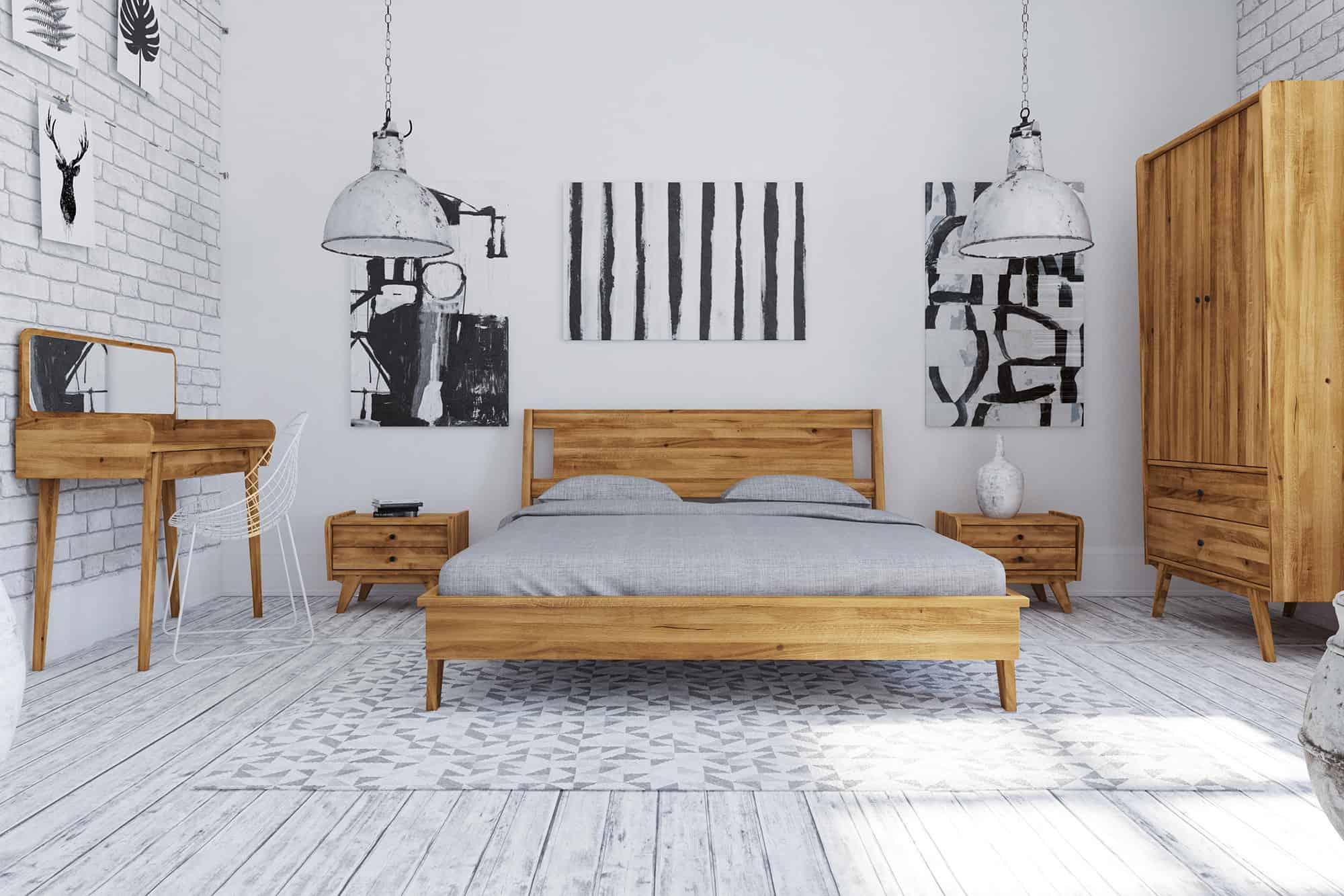 Zdjęcie 8 - RETRO - Kolekcja mebli do sypialni z drewna litego