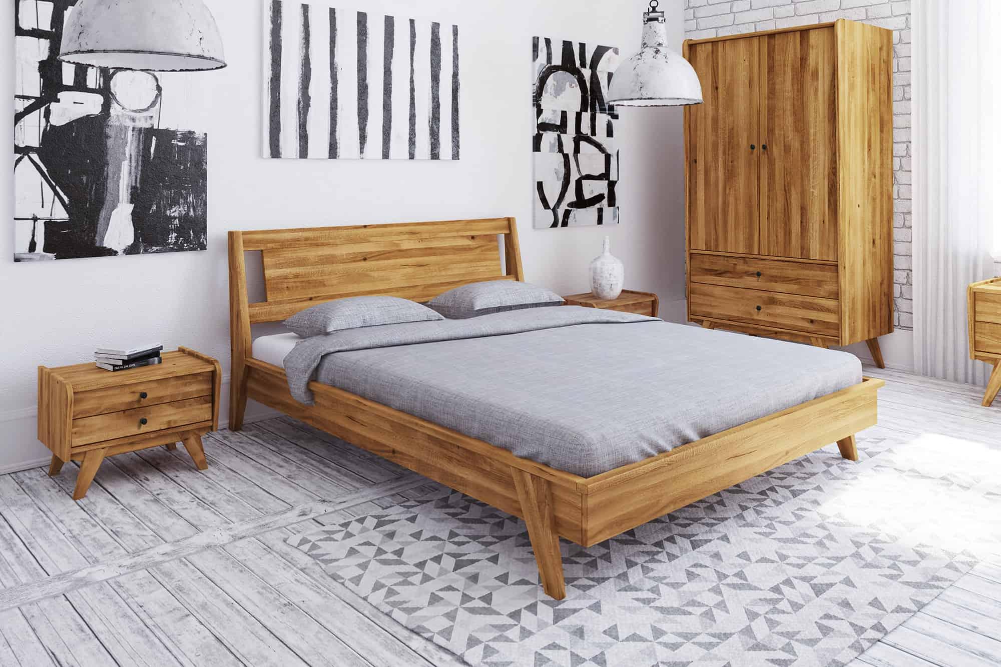 Zdjęcie 4 - RETRO - Kolekcja mebli do sypialni z drewna litego