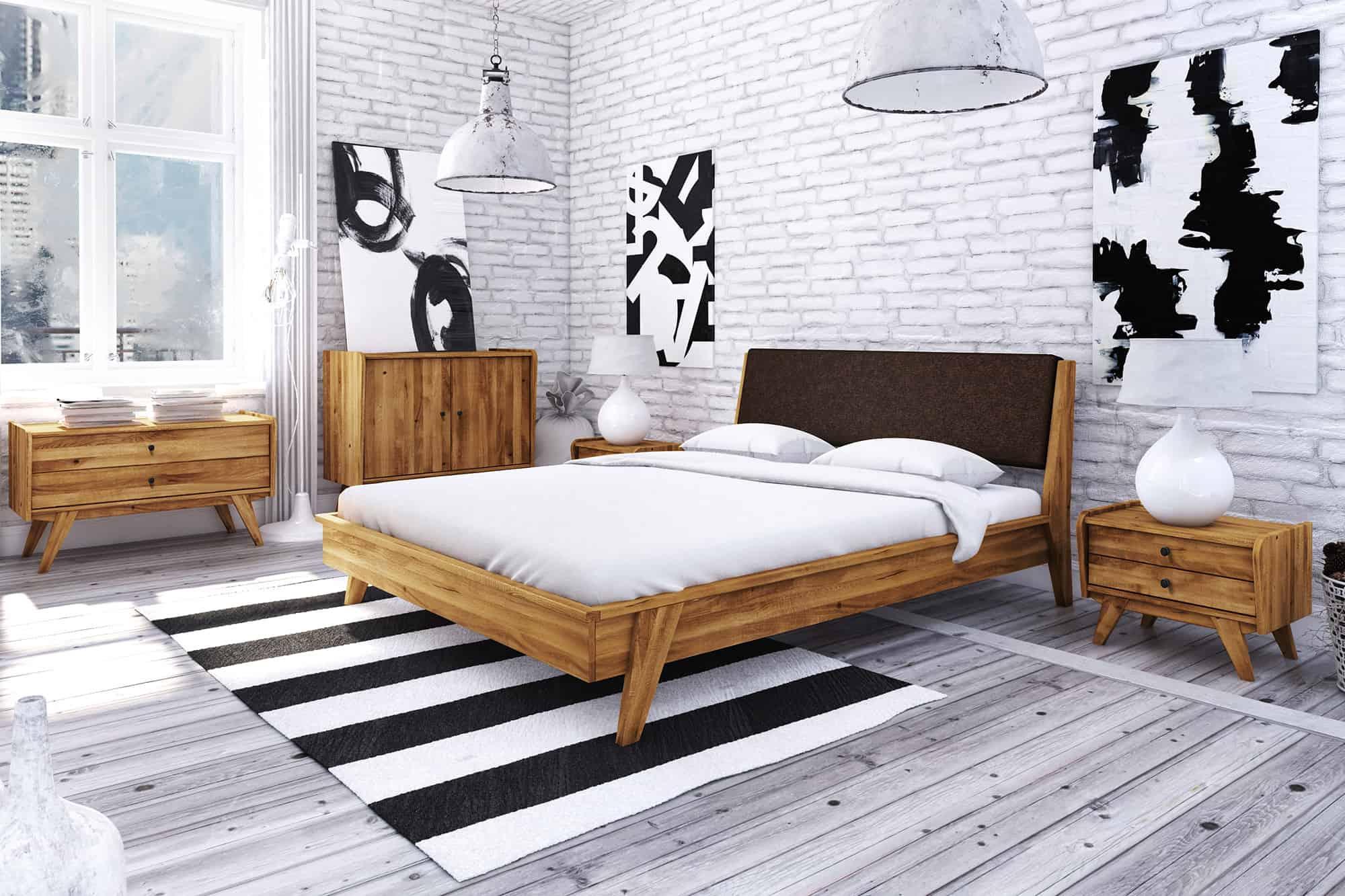 Zdjęcie 3 - RETRO - Kolekcja mebli do sypialni z drewna litego