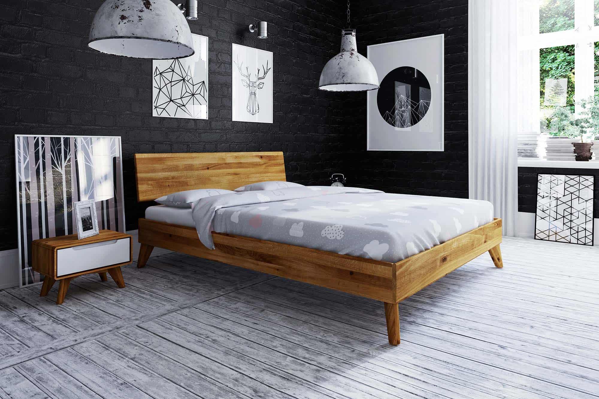 Zdjęcie 2 - BIANCO - Kolekcja mebli do sypialni z drewna litego