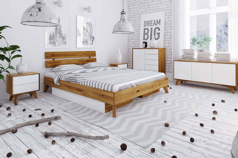 Zdjęcie 3 - BIANCO - Kolekcja mebli do sypialni z drewna litego