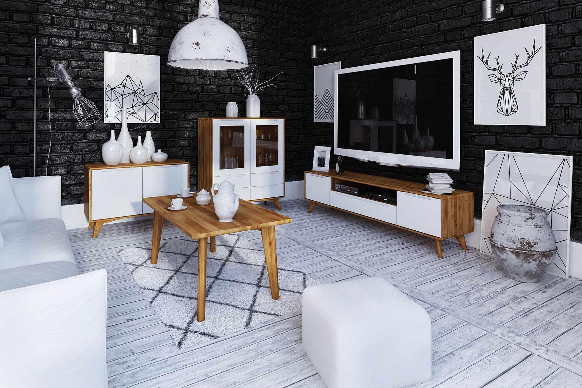 Zdjęcie 2 - BIANCO - Kolekcja mebli do salonu z drewna litego