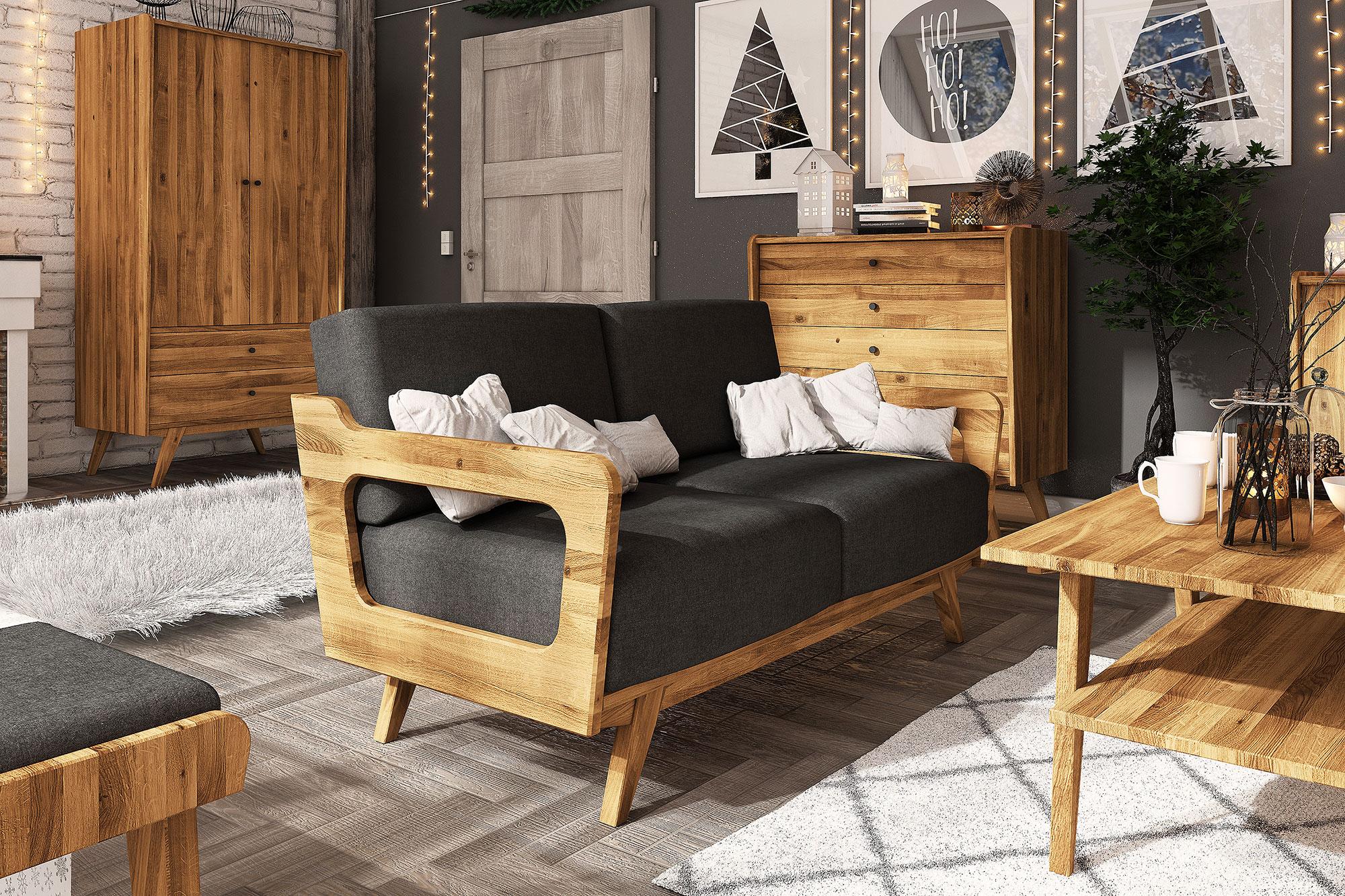 Zdjęcie 2 - RETRO - Kolekcja mebli do salonu z drewna litego