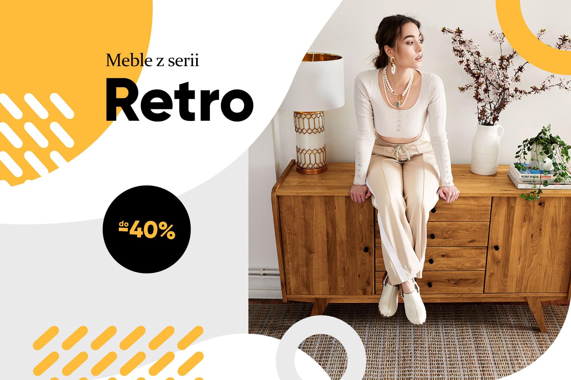 Zdjęcie 1 - RETRO - Kolekcja mebli do sypialni z drewna litego