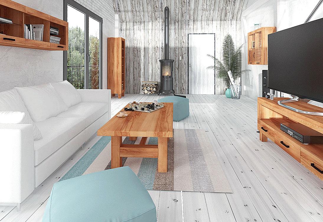 Panorama Salon, jadalnia, sypialnia 360° Minimalizm formy i materiału