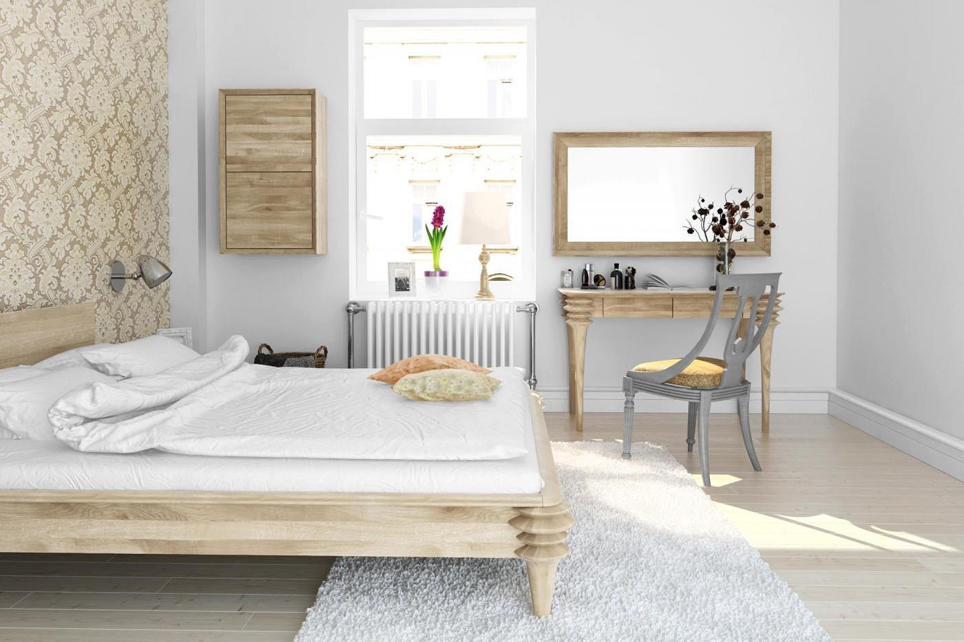 Toaletki i biurka – wykorzystaj miejsce w sypialni