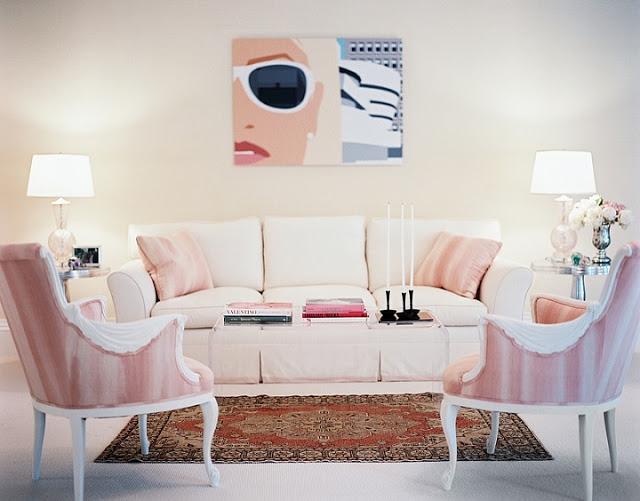 Różowy salon