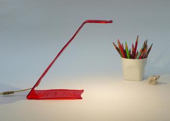 Lampa z czerwonych wodorostów