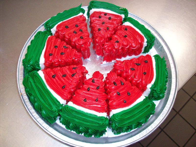 Ciasto o wyglądzie arbuza