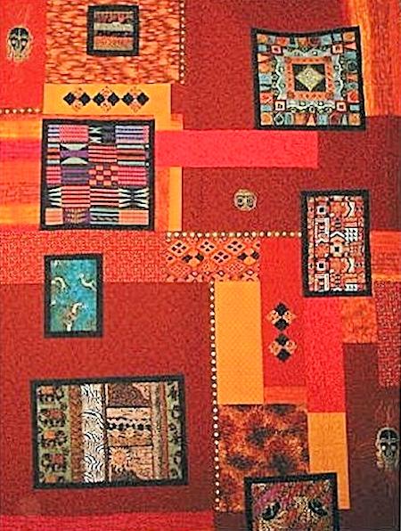Dywan ze wzorami inspirowanymi sztuką afrykańską