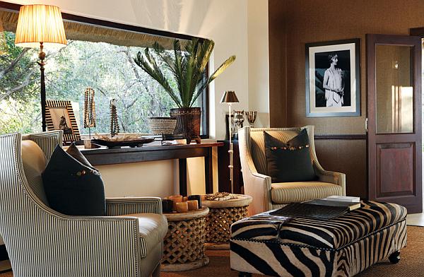 Luksusowy salon w stylu kolonialnym