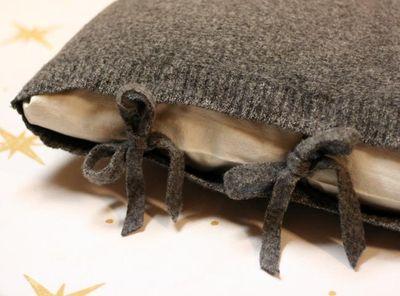 Poszewka ze swetra