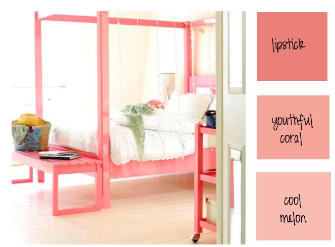 Arbuzowe kolory w sypialni