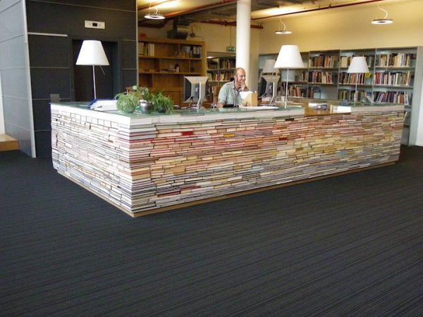 LibraryDeskMadefromBooks