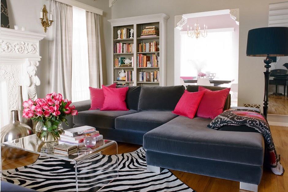 Sala Cinza Rosa e Zebra - Luxe Addition