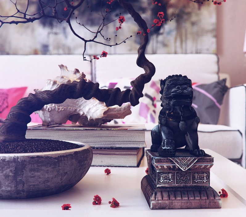 Bonsai tree simbol East Asian Accessories Decorating