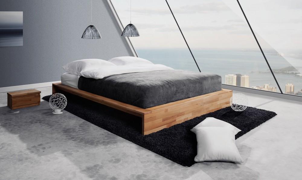 Łóżkoz litego drewna kolekcji Cubic sklepu The Beds