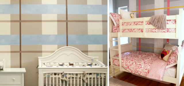 Krata na ścianie w pokoju dziecięcym, o pastelowych barwach