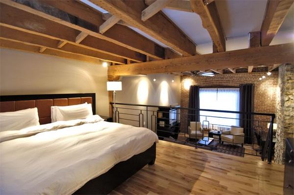Rozwiązanie dla niskich pomieszczeń - otwarta antresola na półpiętrze