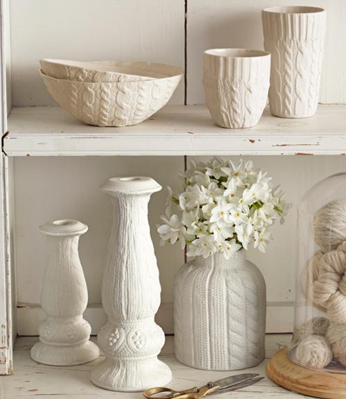 Dekoracje ręcznie robione, na wazony, świeczniki, kubki, w stylu chabby chic