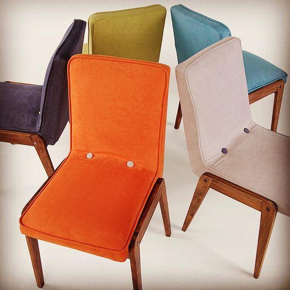 Krzesło Aga w różnych kolorach