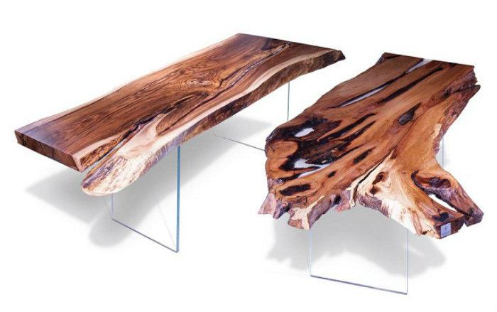 Stoliki z korzeni drzewa