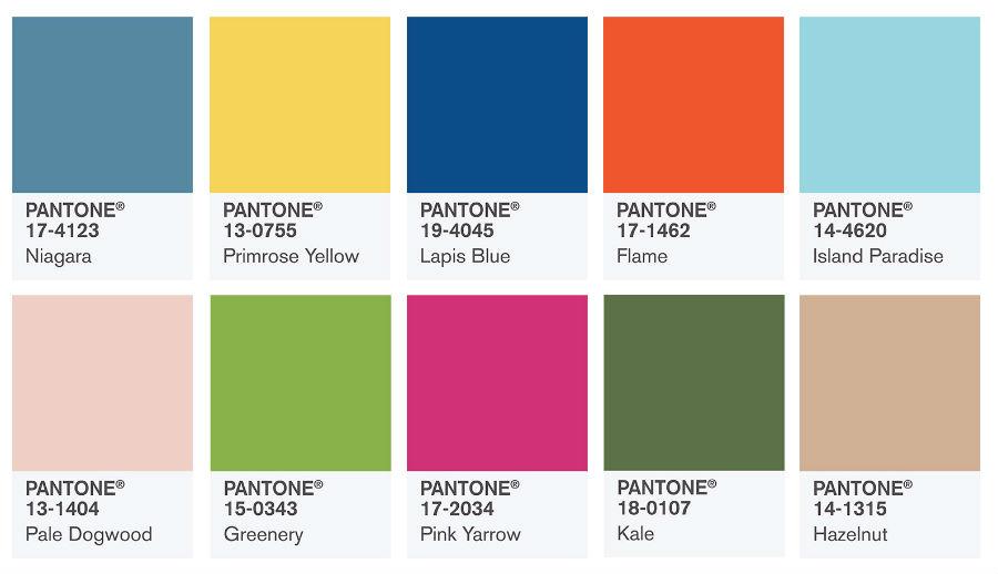 Kolory roku 2017 według Pantone
