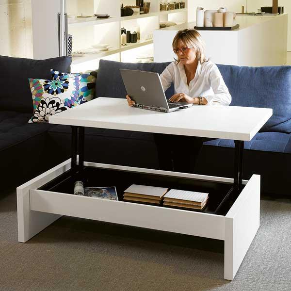 Stolik kawowy i biurko w jednym