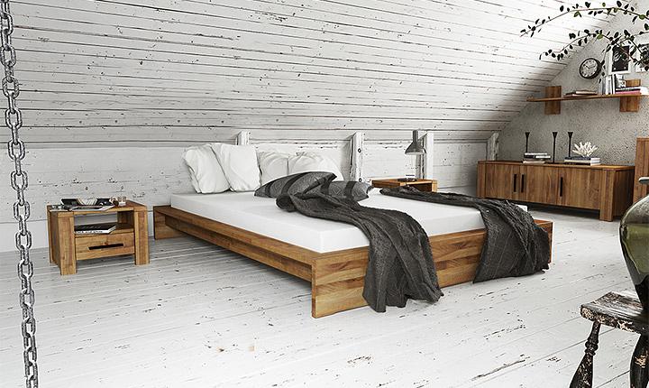 Łóżko z kolekcji Cubic The Beds na poddaszu