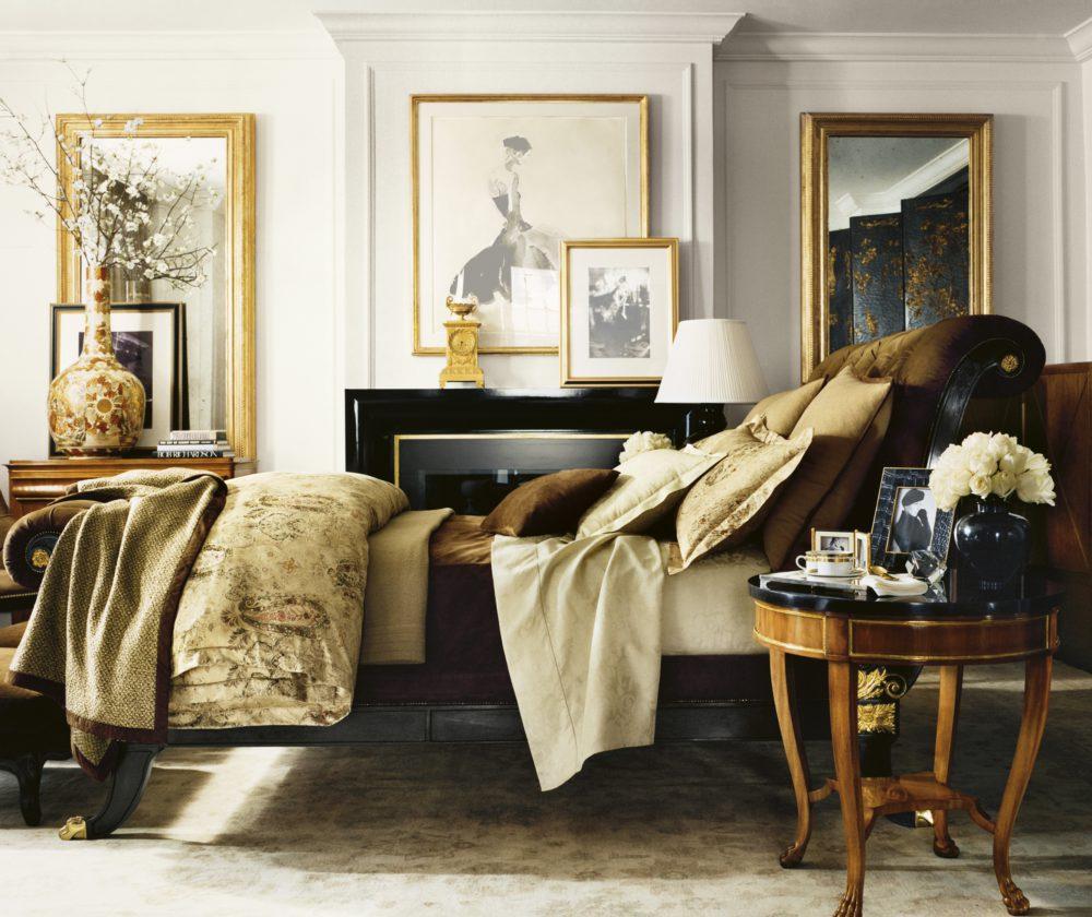 Sypialnia z przytulnymi dodatkami Ralpha Lurena