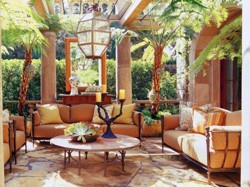 Kolorowe hiszpańskie wnętrze