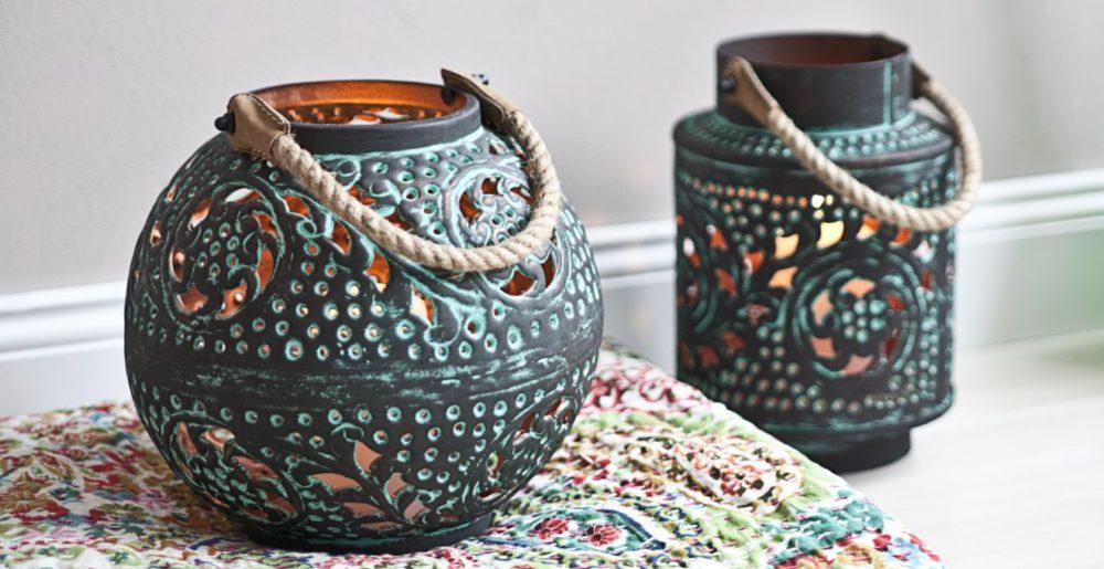 Lampiony w orientalnym stylu, ażurowe