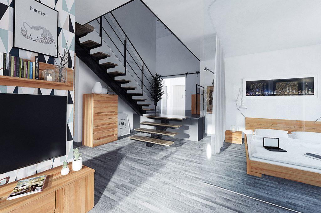 Деревянный пол и мебель Vento - обустройство гостиной